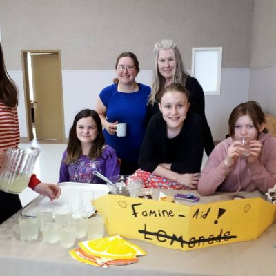 """famine participants selling """"Famine-aid"""" in support of our Guatemala Sponsorship."""